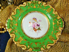 RIDGWAY 2  HANDLED CABINET PLATE HP FLORAL MOULDED RIMS LUSH GOLD  TRIM!   c183O