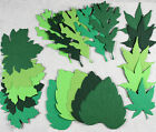 20 x Die Cut Bazzill LEAVES Textured and Embossed 5 shades of Green