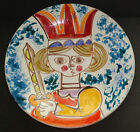 VINTAGE DESIMONE POTTERY PLATE CHARGER HAND PAINTED MID CENTURY MODERN LRG ITALY