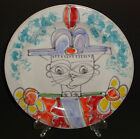 VINTAGE DESIMONE POTTERY PLATE CHARGER HAND PAINTED SOLDIER SIGNED ITALIAN ITALY