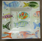 Antica Fornace Handpainted Pastel Fish Ceramic Centerpiece Bowl Italy