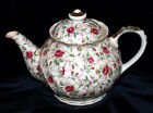 Lefton China Tea Pot / Chintz Rose Pattern /  Lefton Tea Pot