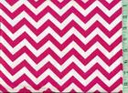 1 yd Snuggle FLANNEL Half Inch Wide Chevrons Hot Pink and White BTY