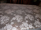 Rose Bouquet Design Lace Tablecloth Ivory 52