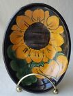 VINTAGE MEXICAN TALAVERA HAND PAINTED POTTERY SUNFLOWER SOAP DISH