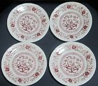 ROYAL ART POTTERY STAFFORDSHIRE ENGLAND PINK ONION DINNERWARE (4)7