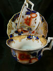 ANTIQUE RIDGWAY   TEA & COFFEE CUP AND SAUCER OLD ENGLISH H.P. FLORAL  c1825