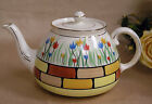 Vintage Gibsons Staffordshire Teapot Multicolored Tulips French Kitchen England