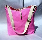 Heavy Duty Pink Canvas Beach Shoulder Tote HandBag Shopping Fashion