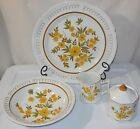 VTG MIKASA DINNERWARE SERVING PLATTER BOWL SUGAR BOWL & CREAMER 4PC LOT, PRETTY!