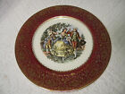 Vintage Royal China Decorative Plate victorian Couple Dancing Gold Trim
