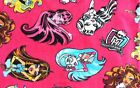 Monster High Pink Polar Fleece Fabric SOLD BY THE YARD