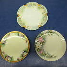 3 VTG Thomas PM Marseille Bavarian Hand Painted Plate Roses Flowers