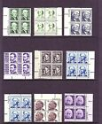PROMINENT AMERICAN PLATE BLOCK SET 1278 1294 19 DIFF F VF NH