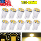 10X Super White 3W 5630 Projector Lens T10 6SMD Interior License LED Light Bulb