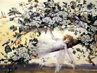 9x6 Print THE TEMPEST ARIEL Fairy Sprite Guardian of Innocence Spring Blossoms