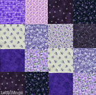 Pleasant Purple 40 4 inch QUILT COTTON FABRIC SQUARE Quilting Charms