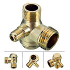 New 3 Port Brass Male Threaded Check Valve Connector Tool for Air Compressor