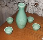 Japanese Ceramic 5 piece Decanter/ Sake Set with Cups