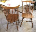 Set of 2 Vintage Maple Windsor Side Chairs (Brace Back Style) Good Quality