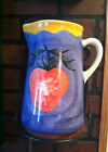 Pizzato Hand Painted Pitcher Made in Italy Apple 10 in, tall Beautiful! Vintage