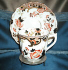 Hand Painted Bone China Tea Cup & Saucer w/Flowers Gorgeous Detailed Design!
