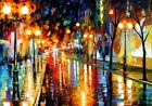 Handcraft Landscape Oil Painting on Canvas-Cities, streets  24x36inch
