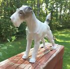 Beautiful Vintage Metzler & Ortloff Germany Large Porcelain Dog Terrier Standing