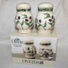 ONEIDA OLIVETO Salt and Pepper Shaker Set - NIB - Discontinued