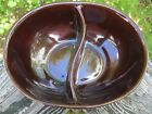 Vintage MARCREST DAISY & DOT Divided DISH SERVING BOWL Stoneware USA Oven Proof