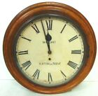 RARE ANTIQUE ENGLISH CLOCK MADE BY WRIGHT OF BURTON ON TRENT W OAK CASE