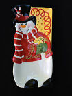 Fitz & Floyd Holiday Plate Sugar Coated Christmas Snowman Cookies Giftware