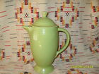 1950's CHARTREUSE   FIESTA  COFFEE SERVER AND LID -FIESTAWARE               y