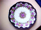 Decorative  Bone China Plate, Hand Painted, Applied Gold, 9 1/2 inch Diameter