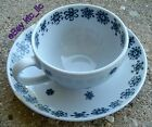 3 vntg ARABIA Finland SNOWFLAKE Espresso / Demitasse Cups & Saucers BLUE POTTERY