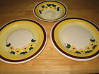 LOT of 3 - BROWN EYED SUSAN Hand Painted VERNON KILNS Serving Bowl