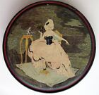 Vintage Gorgeous Art Deco Candy Tin w/ 1700's Picture of Woman w/ White Wig