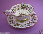 ROYAL STAFFORD GOLDEN BRAMBLE TEA CUP & SAUCER DUO ~ BERRIES & GOLD LEAVES