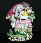 AMAZING 1 of 2 Lg 18c Derby Porcelain Figurine Figural Group Chelsea Lady