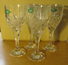 Set of 4 SHANNON CRYSTAL Wine Glasses/Goblets 9 oz 24% Lead Crystal~New!