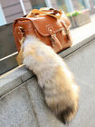 Big Size Real Golden Fox Tail Fur Keychains 100% Genuine Fox Furs Pandant Charm