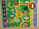 FABRIC PANEL FOR PLAY MAT OR QUILT TOP -- TOWN, BEACH, AIRPORT LANDSCAPE