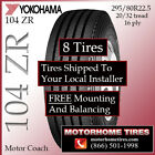 Motor Home Tires 225 295 80R225 Tires Includes Shipping  Installation