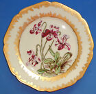 ANTIQUE HAVILAND LIMOGES PORCELAIN PLATE HAND PAINTED GOLD ART NOUVEAU FRANCE