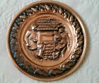 COPPERCRAFT GUILD TAUNTON, MA DECORATIVE ROUND REPOUSSE WALL HANGING