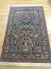 3x5 small Isfahan Persian Oriental Area Rug Carpet Red, Gray Spectacular!