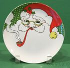 Fitz & Floyd Variations Christmas Small Plate Santa Face
