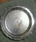 SILVER PLATTER Old English by POOLE 5017 Etched Floral Design 12