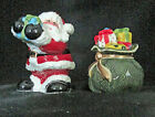 Fitz Floyd Gifts From Santa Handcrafted Salt Pepper Shakers Ceramic Figural