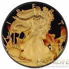 2015 1 Oz Ounce Silver American Eagle Coin 999 Ruthenium Gilded Colorized COA